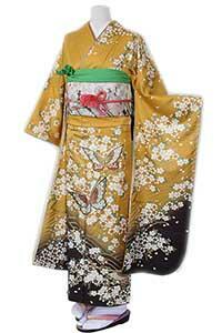 黄桜と蝶_k071