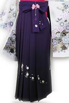 紫ぼかし刺繍八重桜_hkA014