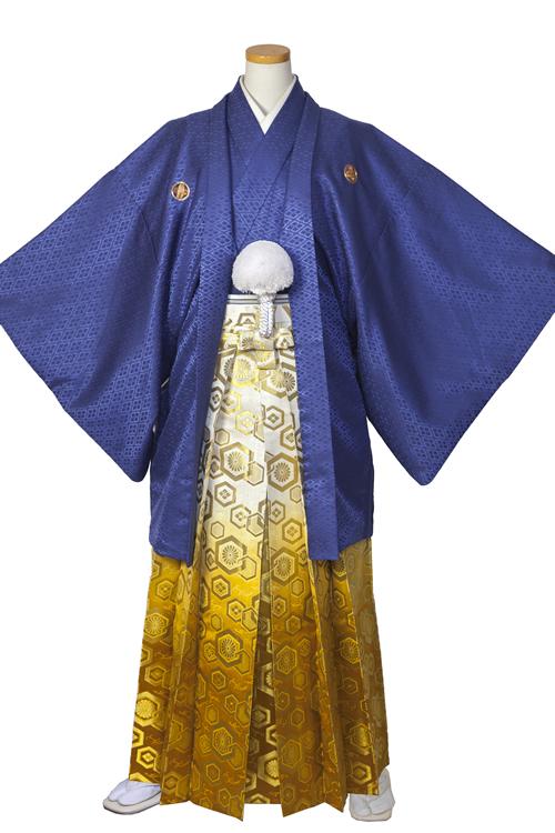 青紫紋服セット
