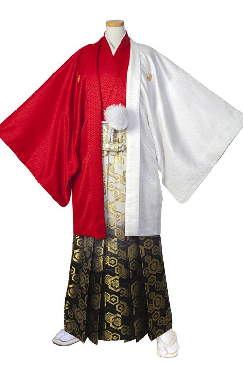 赤白・赤ハーフ紋服セット