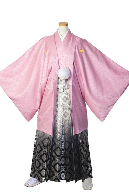 桃色紋服セット