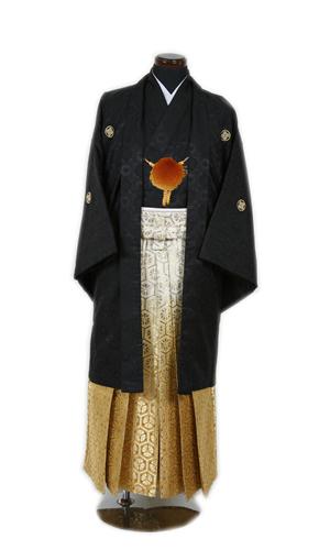 黒金紋服セット01