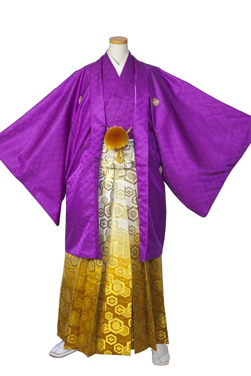 紫紋服セット