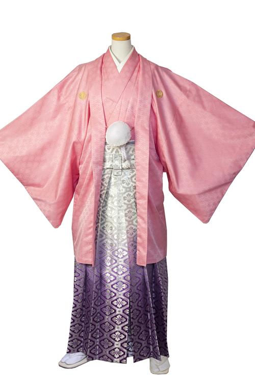 ピンク紋服セット