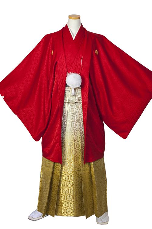 赤紋服セット