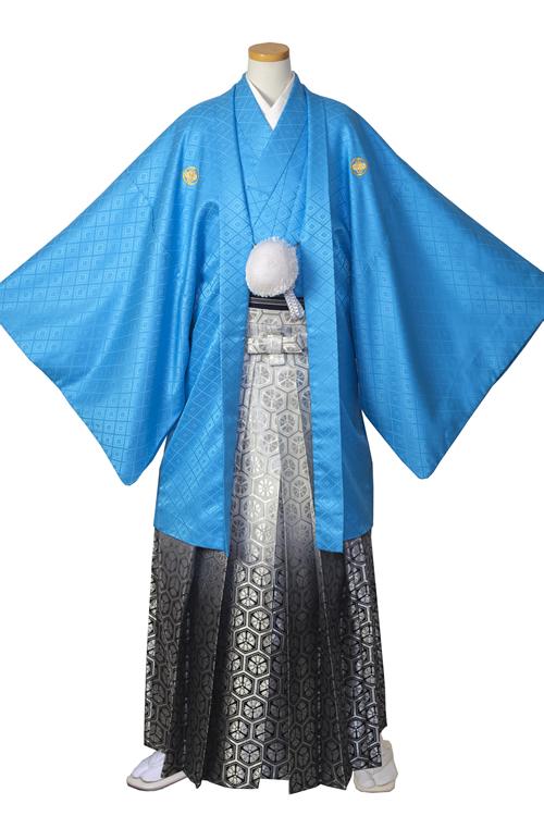 水色紋服セット