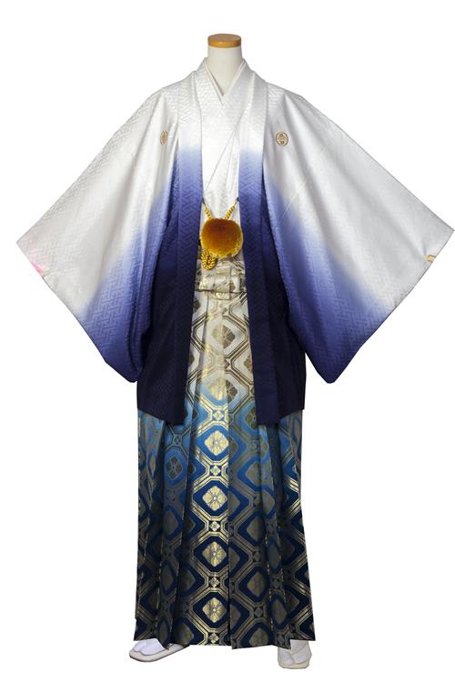 白青グラデーション紋服セット