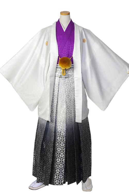 白×紫紋服セット