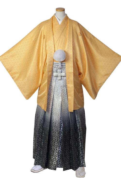 山吹色紋服セット