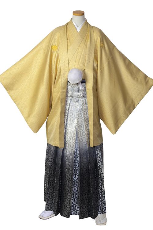 黄色(金)紋服セット