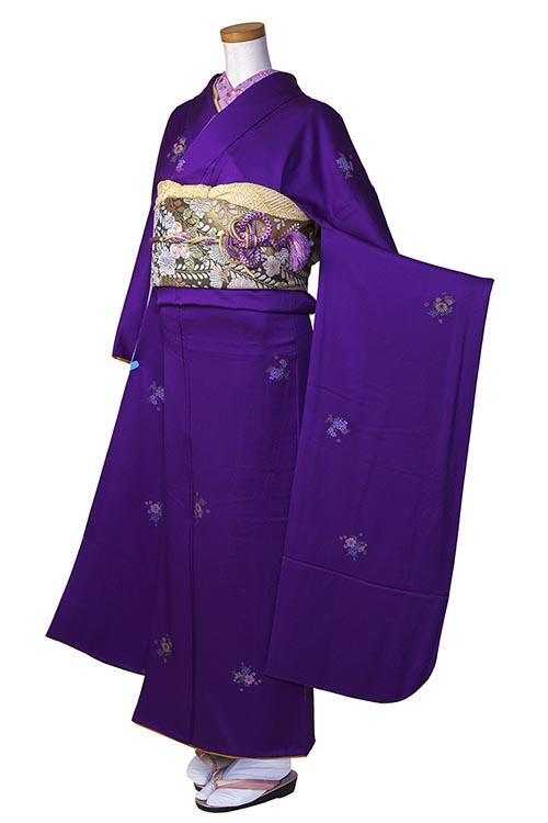 明紫小花柄