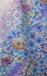 白ラメ紫彩
