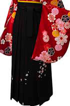 黒刺しゅう(桜)