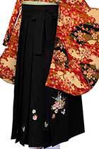 黒刺繍(蝶)