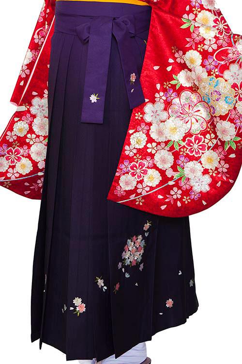紫ぼかし刺繍
