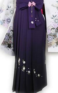 紫ぼかし刺繍八重桜