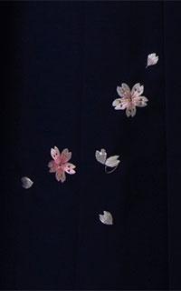 紺小桜刺しゅう