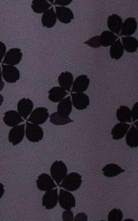 グレー桜花びら