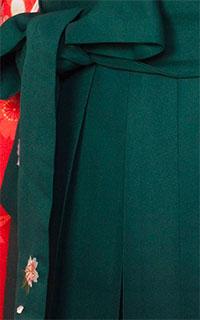 緑黒ぼかし刺しゅう