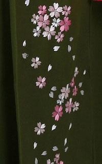 抹茶桜刺しゅう