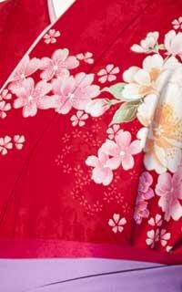 パール刺繍赤