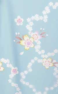 水色ポップ桜