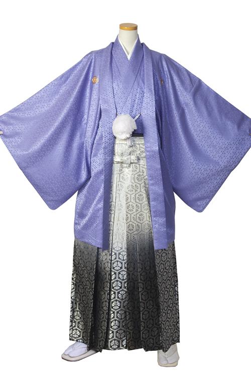 藤色紋服セット