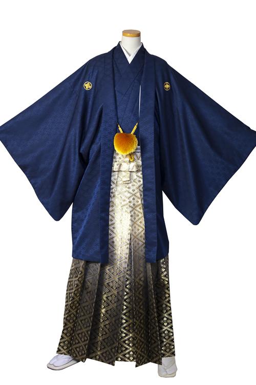 紺菱紋服セット