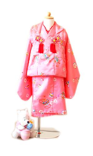 ピンク小紋